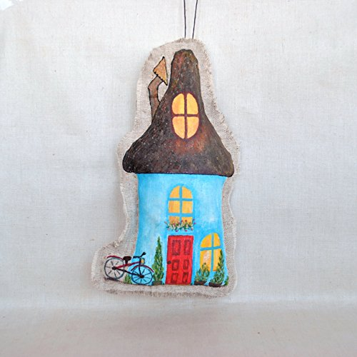 House Ornament Stuffed hanging decorations Rustic Wall Decor (Happily Ever After High Dolls)