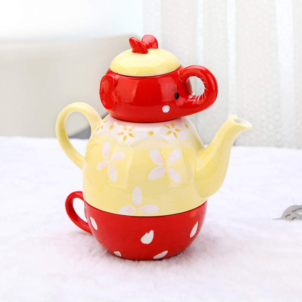 POTOLL Teiera Tea Set teiera Tazza piattino Bone China Set da Te Singolo Vaso in Ceramica Prezzi