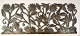 Garden Life Wall Panel, Haiti Metal Art 35'' x 14''