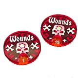 AoS: Wound Dials, #1-15 (2) by Litko Game Accessories