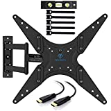 """PERLESMITH TV Wall Mount for 23""""-60"""" TVs - Wall Mount TV Bracket with Swivel & Extends 16"""" - Create the Perfect Viewing Angle - TV Mount fits LED, LCD, OLED Flat Screen TVs - Bonus HDMI Cable"""