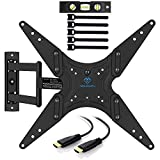 """60 inch tv bracket - PERLESMITH TV Wall Mount for 23""""-60"""" TVs - Wall Mount TV Bracket with Swivel & Extends 16"""" - Create the Perfect Viewing Angle - TV Mount fits LED, LCD, OLED Flat Screen TVs - Bonus HDMI Cable"""
