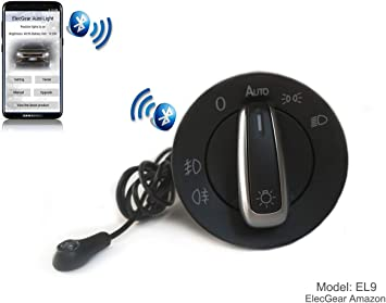 EL9 Bluetooth App Sensor de luz Faros interruptor, Faro Niebla ...