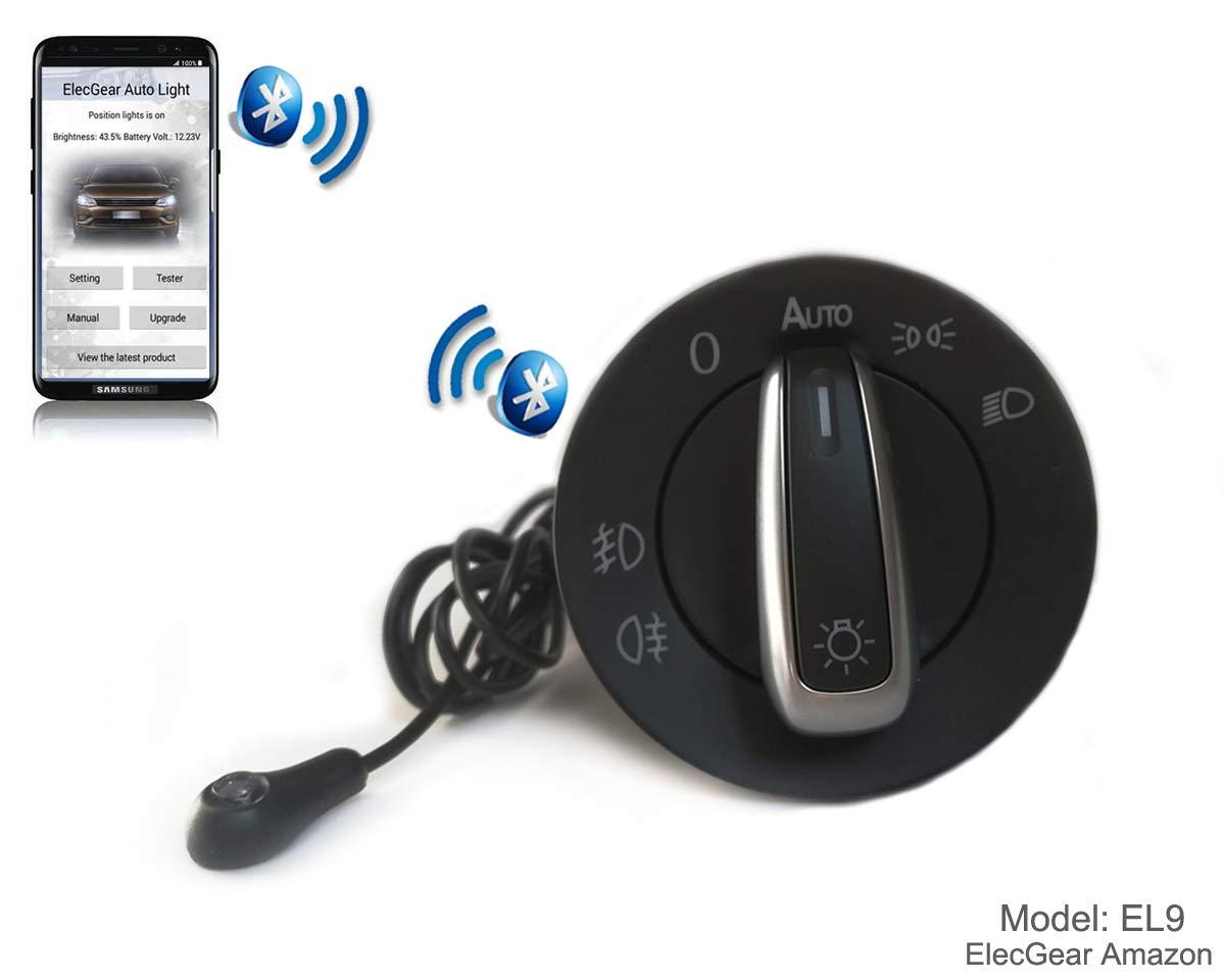 Auto Light Sensor Headlight Switch - EL9 Bluetooth App Control Headlamp Dimmer, Coming Leaving Home Module for VW UP, Golf 4, Polo 9N 6R, Passat B5, Beetle, Transporter T4 T5, Amarok, Jetta, Fabia