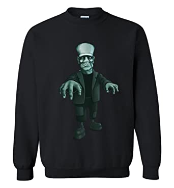 eb4f4035a73a FRANKENSTEIN SWEATSHIRT Halloween Monster Frankie Unisex Sweater for Men  and Women at Amazon Men s Clothing store