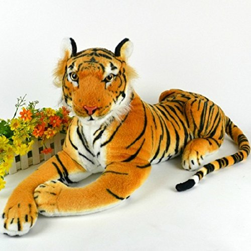 HITSAN 30cm Artificial Tiger Animal Plush Doll Cloth Kids Simulation Stuffed Toys One Piece by HITSAN