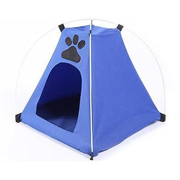 Bonita tienda de campaña para mascotas Oxford con acolchado para interior y exterior: Amazon.es: Productos para mascotas