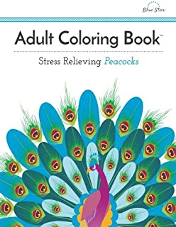 adult coloring book stress relieving peacocks - Peacock Coloring Book