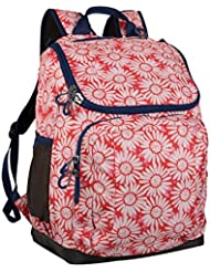 17 Recycled Content Jartop Backpack - Floral/Red - Embark