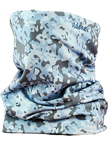 Fishmasks Double Layer Neck Gaiter - Moisuture-Wicking, Water-Resistant, UPF 50+, Protects From Sun, Wind And Moisture While Fishing - Made In USA - Dot Camo Blue