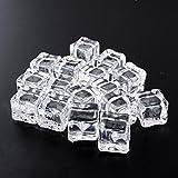 MingXiao Square Realista Magic 16pcs Fake Artificial acrílico Ice Cubes Home 2x2CM