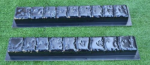 - 2 PIECES EDGE STONE CONCRETE MOLDS EDGING BORDER MOULD ABS PLASTIC #BR15