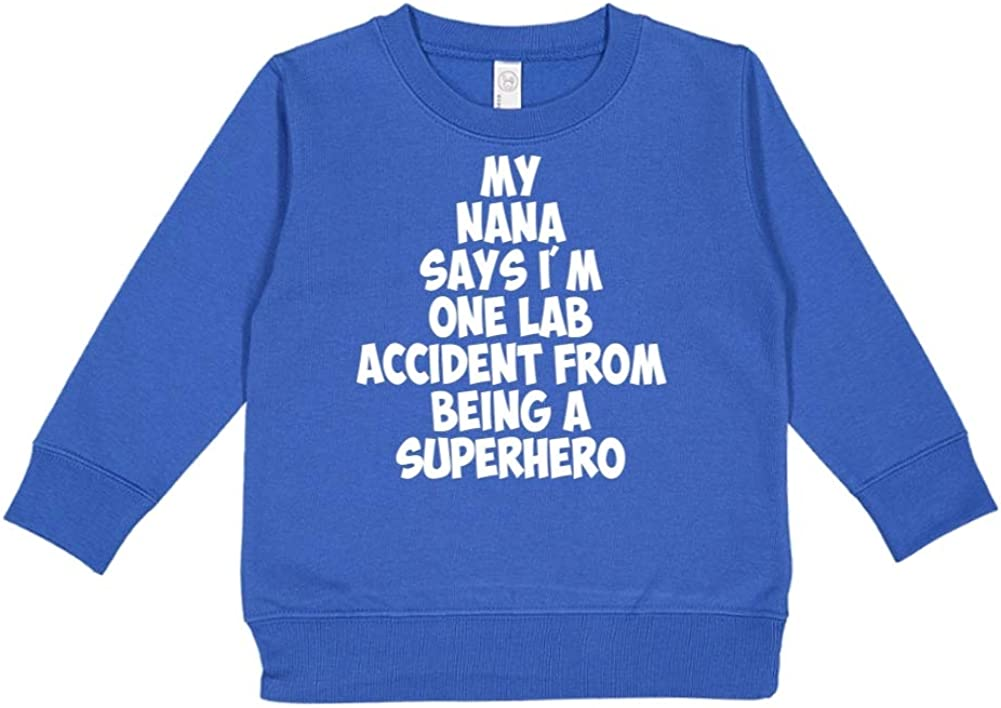 My Nana Says Im One Lab Accident from Being A Superhero Toddler//Kids Sweatshirt