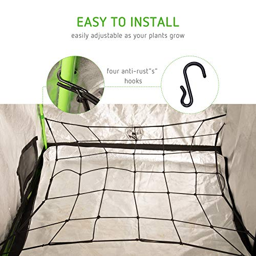 VIVOSUN Elastic Trellis Netting for Grow Tents of Any Dimensions 4'x4' 4'x2' 5'x5' 3x3'