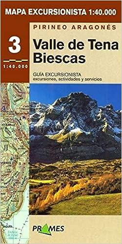Valle De Tena Mapa.Mapa Excursionista Valle De Tena Biescas 9788483211106