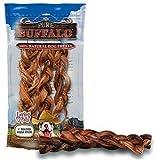 Loving Pets 430211 6 Buffalo Braid Bully Stick 3Pk