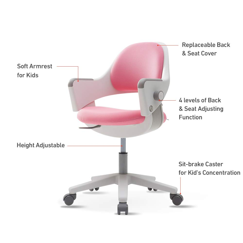 Sidiz ringo kids and childrens home study desk swivel chair sn500av with 4 level back adjustment ages 6 up suitable for 3 65 3 feet tall