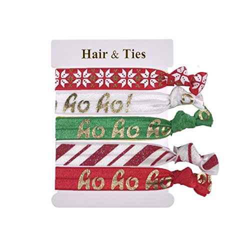 DDazzling Girls Unicorn Hair Ties Elastic Hair Ties Party Favors (Red Green White)