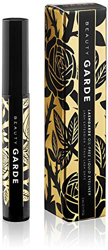 Oil-Free Liquid Eyeliner - safe for lash extensions, precision silicone applicator (Best Eyeliner For Lash Extensions)