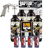 U-POL Raptor Bright Purple Urethane Spray-On Truck Bed Liner Kit w/ Free Spray Gun, 4 Liters