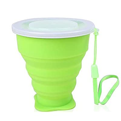 3zfamily Tasse de voyage camping plein air rétractable pliable portable en silicone. Portable Silicone Rétractable Télescopique Pliable