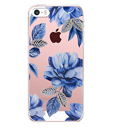 iPhone 5/5s/SE Case TPU Silicone Rubber Cute Anti-Scratch Slim Ultra Protective Clear Shock-Absorption Bumper Soft Amusing Design for Apple i Phone5 Cover (color 17, iPhone 5/5s/SE)