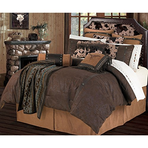 HiEnd Accents Caldwell Western Comforter (Leather Comforter)