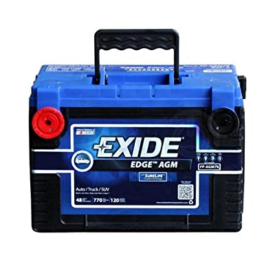 Exide Edge FP-AGM78 Flat Plate AGM Sealed Automotive Battery