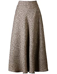 Choies Women's High Waist A-line Flared Long Skirt Winter...