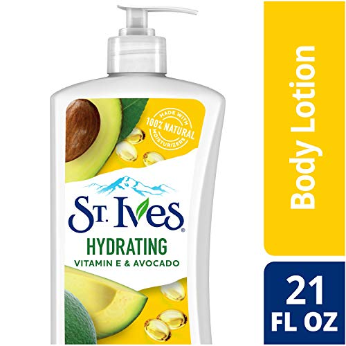 St. Ives Hydrating Body Lotion, Vitamin E and Avocado, 21 oz, Pack of 4 (Best Hydrating Body Lotion)