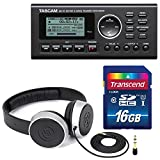 Tascam GB-10 - USB Guitar/Bass Trainer/Recorder Along With Samson Studio Headphones and Transcend SDHC Memory Card