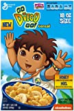Go Diego Go Honey Cereal, 18 Ounce (Pack of 12)