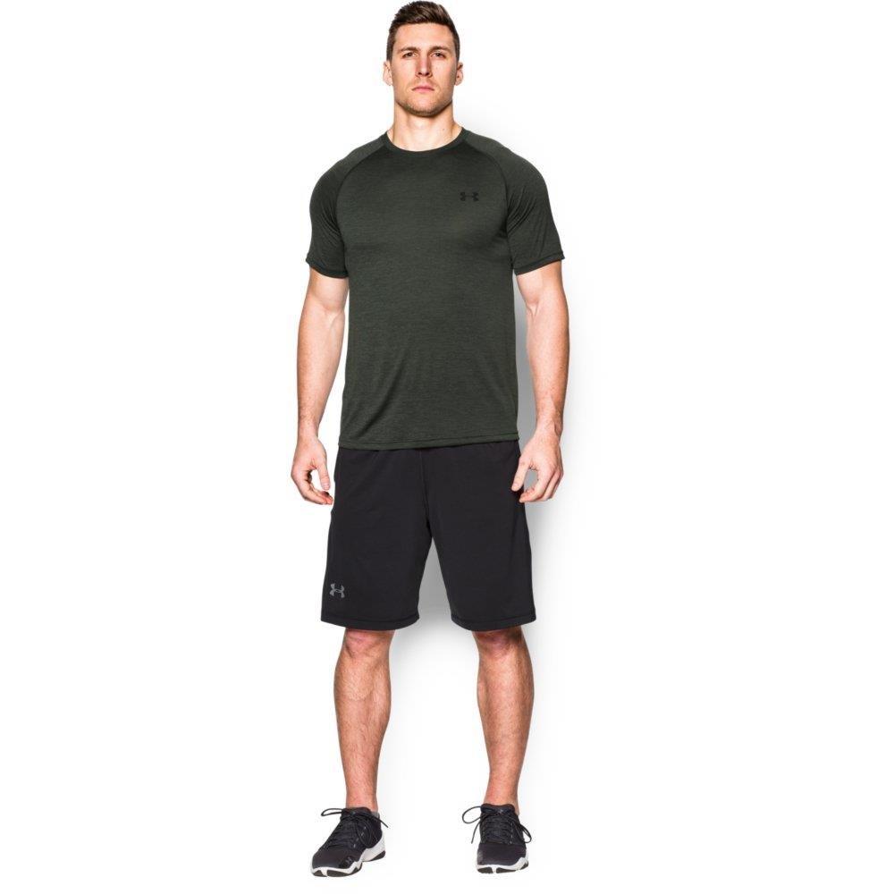[アンダーアーマー] UA Tech SS Tee メンズ 1228539 B00YSLXZ4U X-Small|Combat Green/Black Combat Green/Black X-Small