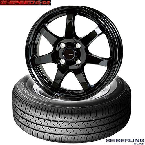 ブリジストン製|セイバーリング SEIBERLING SL101〈165/65R14 79S〉&G.speed G-03〈14×5.5 +45 100 4H〉|タイヤホイール4本セット