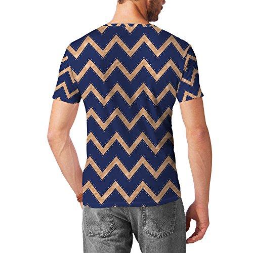 Ravenclaw House Chevrons Bronze Mens Cotton Blend T-Shirt Herren
