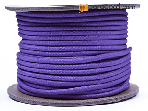 Lilac 1/8'' Shock Cord - BORED PARACORD Marine Grade Shock / Bungee / Stretch Cord 1/8 inch x 100 feet Several Colors - Made in USA by BoredParacord
