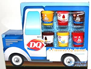 DQ Dairy Queen, 6 Ice Cream Flavored Lip Balms, Cherry Dipped Cone, Hot Fudge Sundae, Butterscotch Sundae, Chocolate Dipped Cone, Vanilla Cone and Strawberry Sundae (1 Pack)