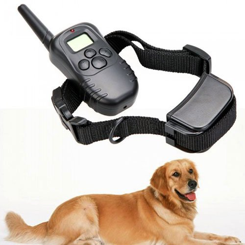 DigiEspow Rechargeable Waterproof 300M 100LV LCD Remote Dog Pet Training Collar Shock Vibrate for 1 Dog