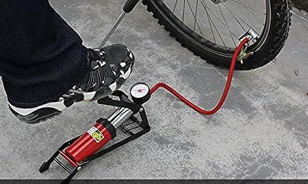 Supermall Air Pressure Foot Pump Air Pump For Bike,Car,Motorcycle,Balls,Etc+(With Free Mini Balloon Pump)