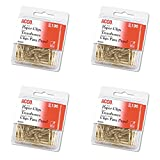 ACCO Smooth Gold Tone #2 Size Paper Clips, 100 Clips per Pack (A7072533), 4 Packs