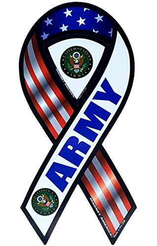 Ramson's Imports U.S. Army 2 In 1 Ribbon Magnet