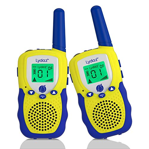 (Lydaz Walkie Talkies for Kids, 22 Channels 3 Miles Long Range Electronic Two Way Radios with Rubber Finishing, Indoor Outdoor Play Adventure Toys Gift for Boys Girls Age 3 4 5 6 7 8 9 10 Years Old)