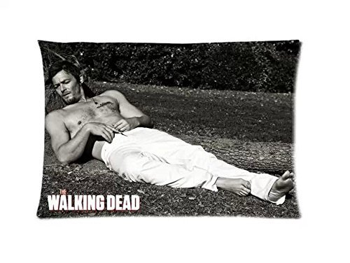 1 X The Walking Dead Daryl Dixon Custom Zippered Throw Pillow Case Cushion Cover 20