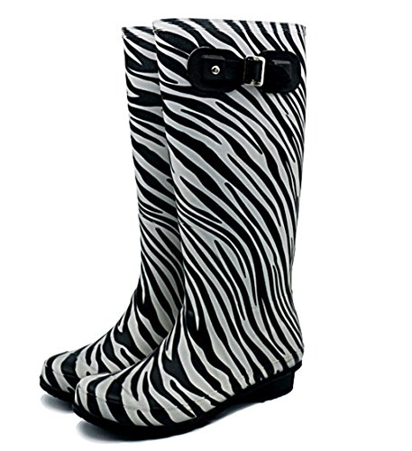 Kitzen Womens Waterproof Rain Boots Rubber Festival Rain Mud Snow Ladies Hiking Fashion Wellington Wellies Non-Slip Tall Shoes Sizes Martin Boots EU37 DAOiqh