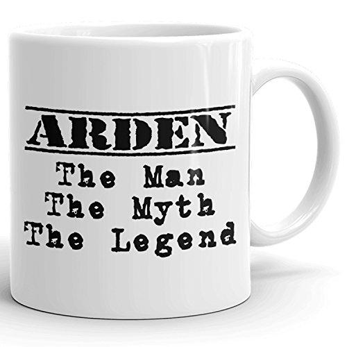 Arden Chocolate - Arden Mug - The Man The Myth The Legend - for Coffee, Tea & Chocolate - 11oz White Mug