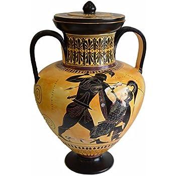 Amazon Achilles And Penthesileia Ancient Greek Amphora Vase