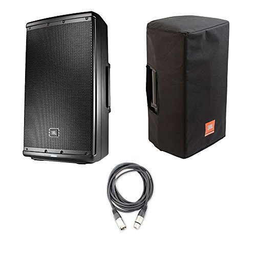 JBL EON612-12 Two-Way Multipurpose Self-Powered Sound Reinforcement Speaker with JBL Bags EON612-CVR 5 mm Padding/Water Resistant/Cover and AxcessAbles XLR-XLR20 Audio Cable ()