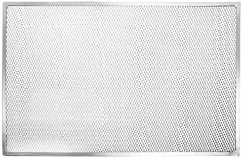 Hubert Rectangular Aluminum Seamless Rim Pizza Screen - 24