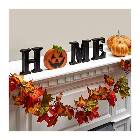 "The Lakeside Collection Wooden Decorative Home Signs with Letters, Pumpkin, Turkey, Snowflake - 13 Pc. - This 13-Pc. set of decorative holiday figures and signs is a fun and simple way to celebrate the time of year. Kids and children especially will enjoy getting to change the icon for each season. Features characters representing Thanksgiving, Halloween, Christmas, and all four seasons. Place on your mantel, counter, dining table or shelf when you're getting ready for the next season. A perfect housewarming gift, you can arrange the pieces next to each other to spell out ""HOME"". You can also replace the ""O"" with any one of 10 icons that represent the season. - living-room-decor, living-room, home-decor - 51inC4M9ixL. SS570  -"