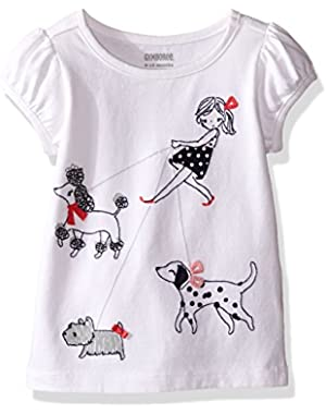 Baby Girls' Walking Dogs Graphic Tee